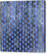 Decadent Urban Blue Patterned Abstract Design Acrylic Print