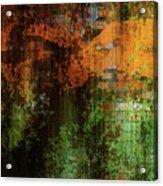 Decadent Urban Brick Green Orange Grunge Abstract Acrylic Print