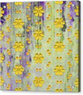 Decadent Urban Bright Yellow Patterned Purple Abstract Design Acrylic Print