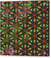 Decadent Urban Orange Green Patterned Abstract Design Acrylic Print