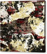 Decadent Urban Red Bricks Painted Grunge Abstract Acrylic Print