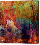 Decadent Urban Red Wall Grunge Abstract Acrylic Print