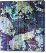 Decadent Urban White Splashed Bricks Grunge Abstract Acrylic Print