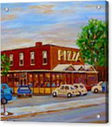 Decarie  Tasty  Food  Pizza Acrylic Print