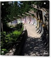 Decayed Bobsled Acrylic Print