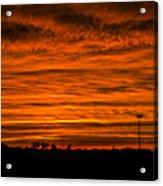 December Nebraska Sunset 002 Acrylic Print