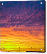December Nebraska Sunset 003 Acrylic Print