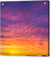 December Nebraska Sunset 004 Acrylic Print