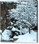 December Snows Acrylic Print