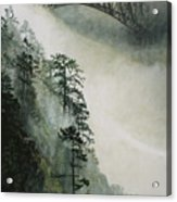 Deception Pass Fog Acrylic Print by Perry Woodfin