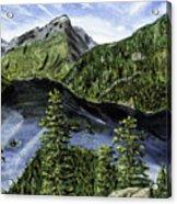 Deception Pass Painting Acrylic Print