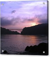 Deception Pass Sunrise Acrylic Print