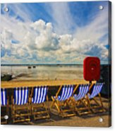 Deck Chairs At Southend On Sea Acrylic Print