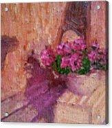 Deck Flowers #2 Acrylic Print