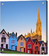 Deck Of Cards And St Colman's Cathedral, Cobh, Ireland Acrylic Print