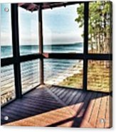 Deck With Ocean View Acrylic Print