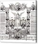 Declaration Of Independence 1884 Poster Restored Acrylic Print