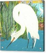 Deco Egret Acrylic Print