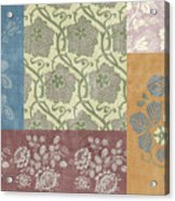 Deco Flower Patchwork 2 Acrylic Print by JQ Licensing