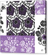 Deco Flower Patchwork 3 Acrylic Print by JQ Licensing