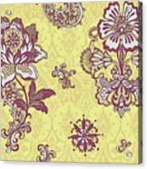 Deco Flower Yellow Acrylic Print