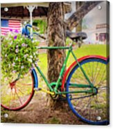 Decorated Bicycle In The Park Acrylic Print