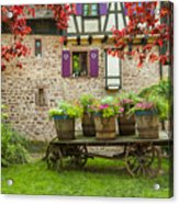 Half-timbered House, Riquewihr, Alsace,france  Acrylic Print