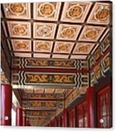 Decorated Columned Hall Of A Chinese Temple Acrylic Print