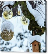 Decorations In The Snow Acrylic Print