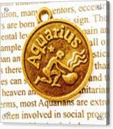 Decorative Aquarius Acrylic Print