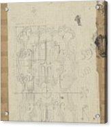Decorative Design, Carel Adolph Lion Cachet, 1874 - 1945 W Acrylic Print