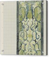 Decorative Design In Green And Blue, Carel Adolph Lion Cachet, 1874 - 1945 Acrylic Print