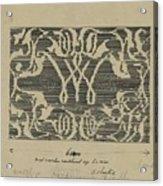 Decorative Design In National Colors, Carel Adolph Lion Cachet, 1874 - 1945 Acrylic Print
