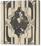 Decorative Design With Four Coats Of Arms, Carel Adolph Lion Cachet, 1874 - 1945 Acrylic Print
