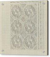 Decorative Design With Geometric Motif, Carel Adolph Lion Cachet, 1874 - 1945 Acrylic Print