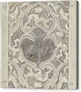 Decorative Design With Leaf Motif, Carel Adolph Lion Cachet, 1874 - 1945 Acrylic Print