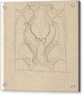 Decorative Design With Two Birds, Carel Adolph Lion Cachet, 1874 - 1945 Acrylic Print