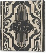 Decorative Design With Two Stylized Lions, Carel Adolph Lion Cachet, 1874 - 1945 Acrylic Print