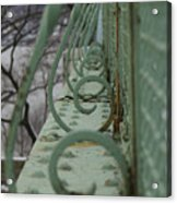 Decorative Foot Bridge Acrylic Print