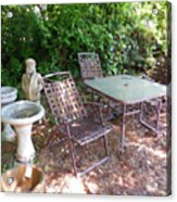 Decorative Furniture In A Garden 1 Acrylic Print