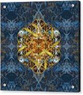 Decorative Gemstone Sacred Geometry Flower Of Life   Acrylic Print