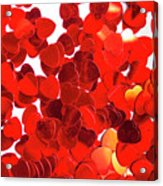 Decorative Heart Background Acrylic Print