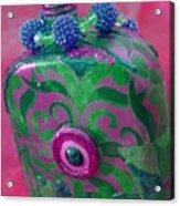 Decorative Pink Bottle Acrylic Print