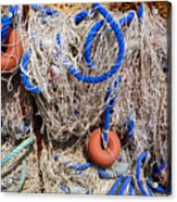 Deep Blue Net Acrylic Print