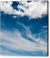 Deep Blue Sky Acrylic Print