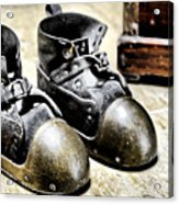 Deep Diver Boots Hdr And Vintage Process Acrylic Print