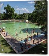 Deep Eddy Pool Is A Family Friendly, Family Fun, Public Swimming Pool In Austin, Texas Acrylic Print