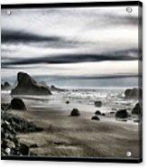Deep Evening At The Beach Acrylic Print