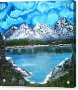 Deep Mountain Lake Acrylic Print