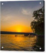 Deep Orange Sunset Over Keuka Lake Acrylic Print
